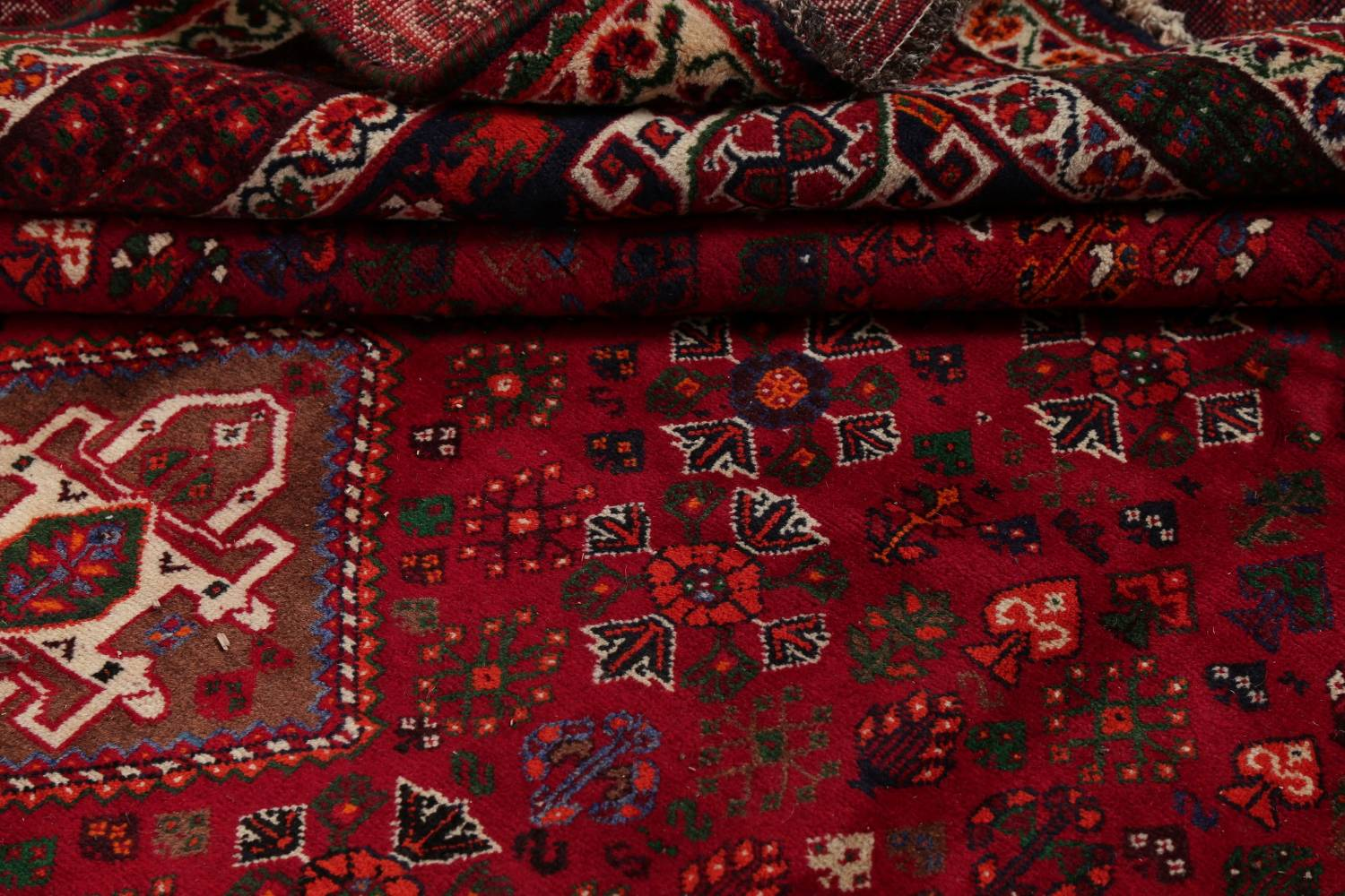 Vegetable Dye Tribal Abadeh Nafar Persian Hand-Knotted 6x9 Wool Area Rug image 8
