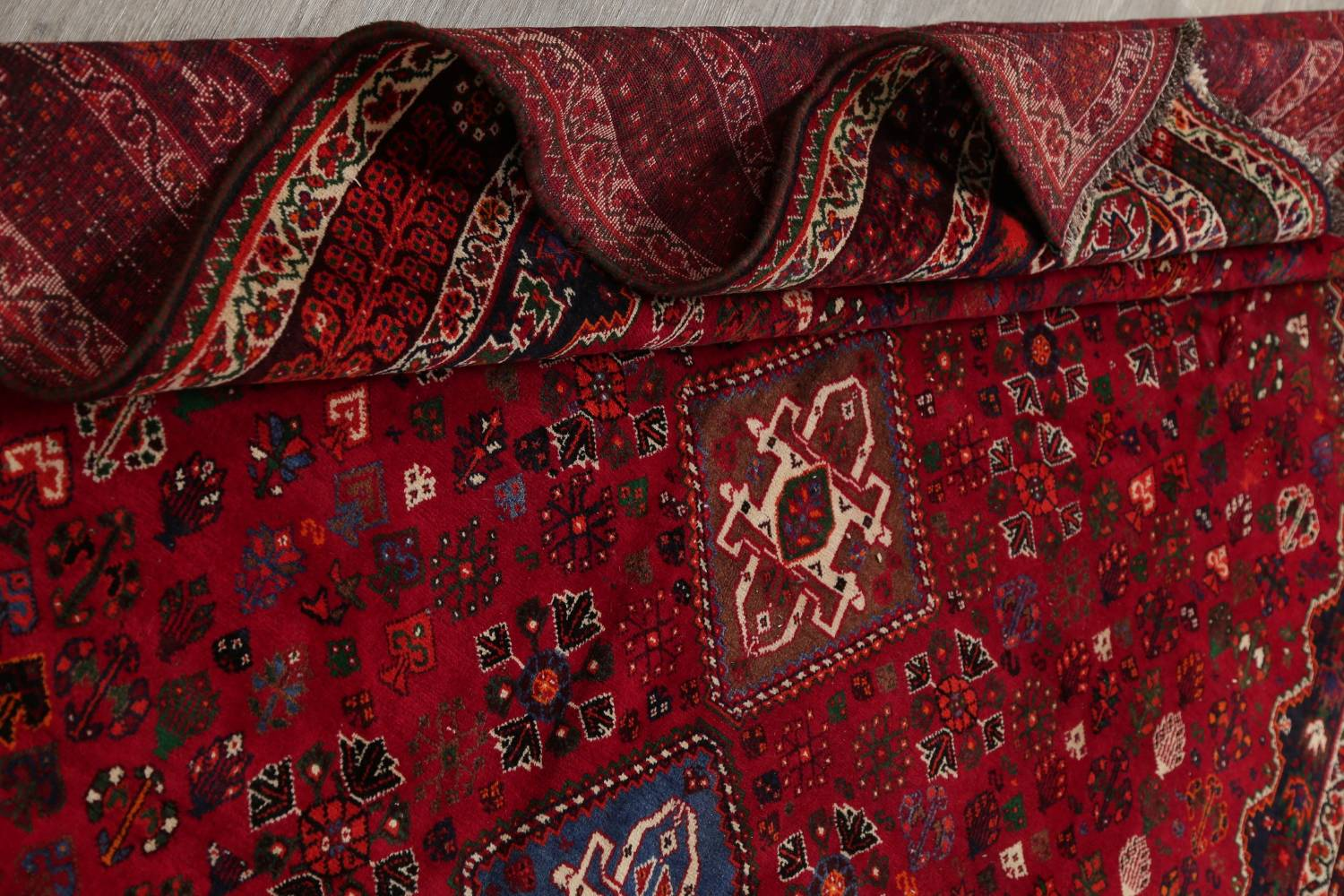 Vegetable Dye Tribal Abadeh Nafar Persian Hand-Knotted 6x9 Wool Area Rug image 7