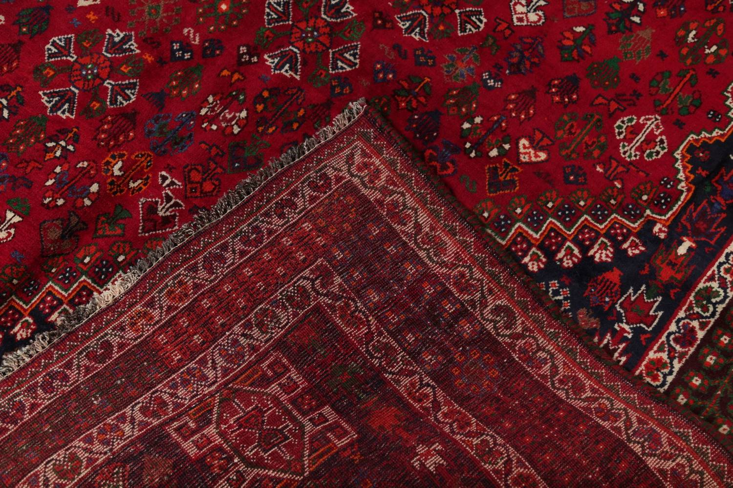Vegetable Dye Tribal Abadeh Nafar Persian Hand-Knotted 6x9 Wool Area Rug image 5