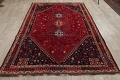 Vegetable Dye Tribal Abadeh Nafar Persian Hand-Knotted 6x9 Wool Area Rug image 9