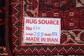 Vegetable Dye Tribal Abadeh Nafar Persian Hand-Knotted 6x9 Wool Area Rug image 4