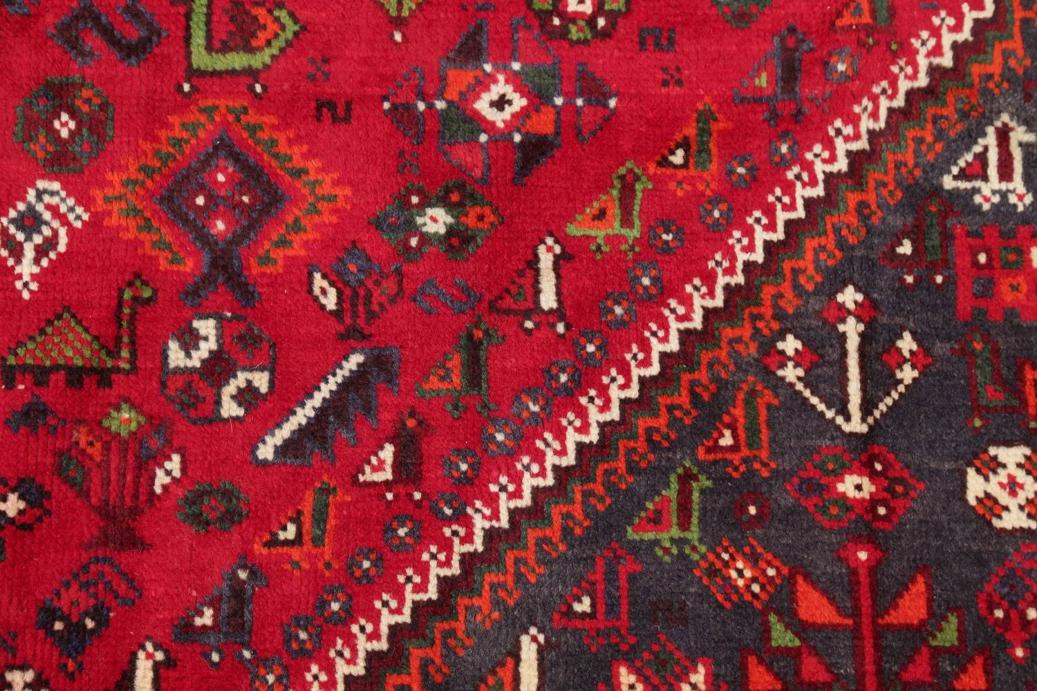 One-of-a-Kind Antique Tribal Shiraz Persian Hand-Knotted 7x10 Wool Area Rug image 19