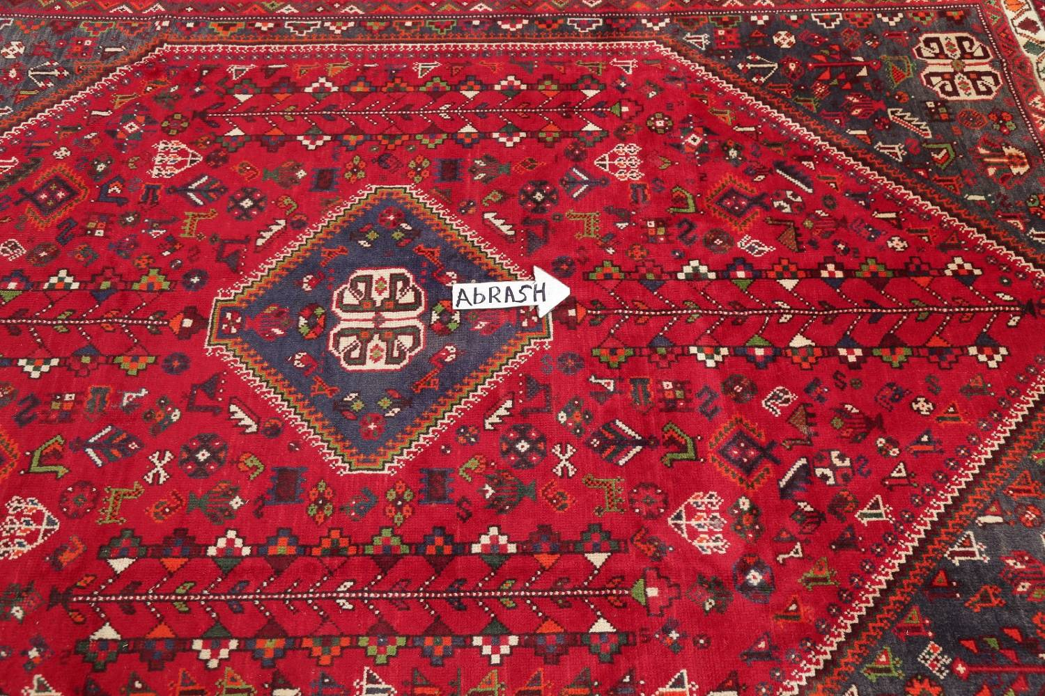 One-of-a-Kind Antique Tribal Shiraz Persian Hand-Knotted 7x10 Wool Area Rug image 8