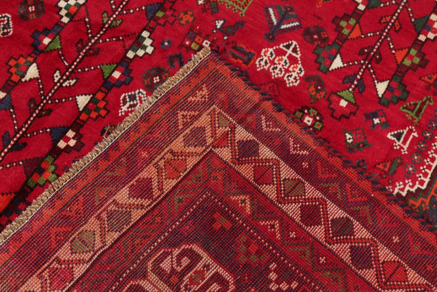 One-of-a-Kind Antique Tribal Shiraz Persian Hand-Knotted 7x10 Wool Area Rug image 4