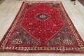 One-of-a-Kind Antique Tribal Shiraz Persian Hand-Knotted 7x10 Wool Area Rug image 12
