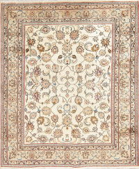One-of-a-Kind All-Over Floral Kashmar Persian Hand-Knotted 6x8 Wool Area Rug