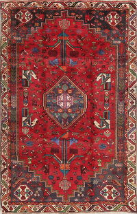 One-of-a-Kind Tribal Kashkoli Persian Hand-Knotted 5x8 Wool Area Rug