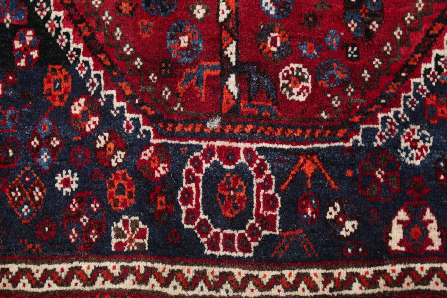 Antique Red Tribal Geometric Qashqai Persian Hand-Knotted 5x8 Wool Area Rug image 7