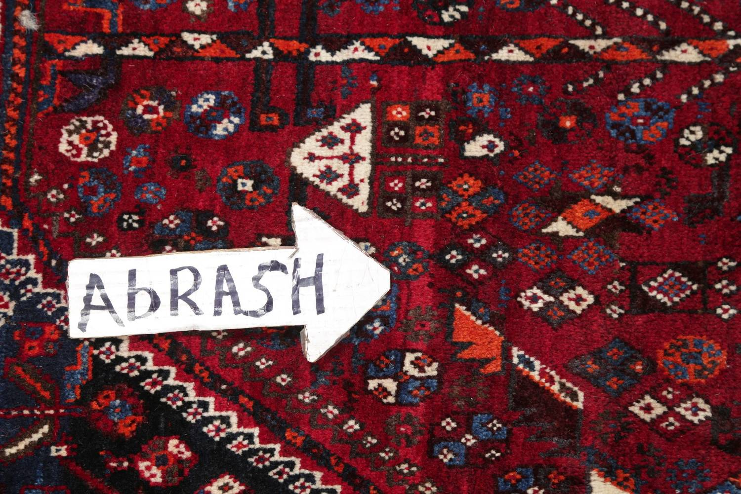 Antique Red Tribal Geometric Qashqai Persian Hand-Knotted 5x8 Wool Area Rug image 10