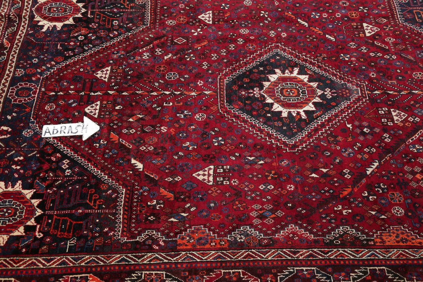Antique Red Tribal Geometric Qashqai Persian Hand-Knotted 5x8 Wool Area Rug image 11