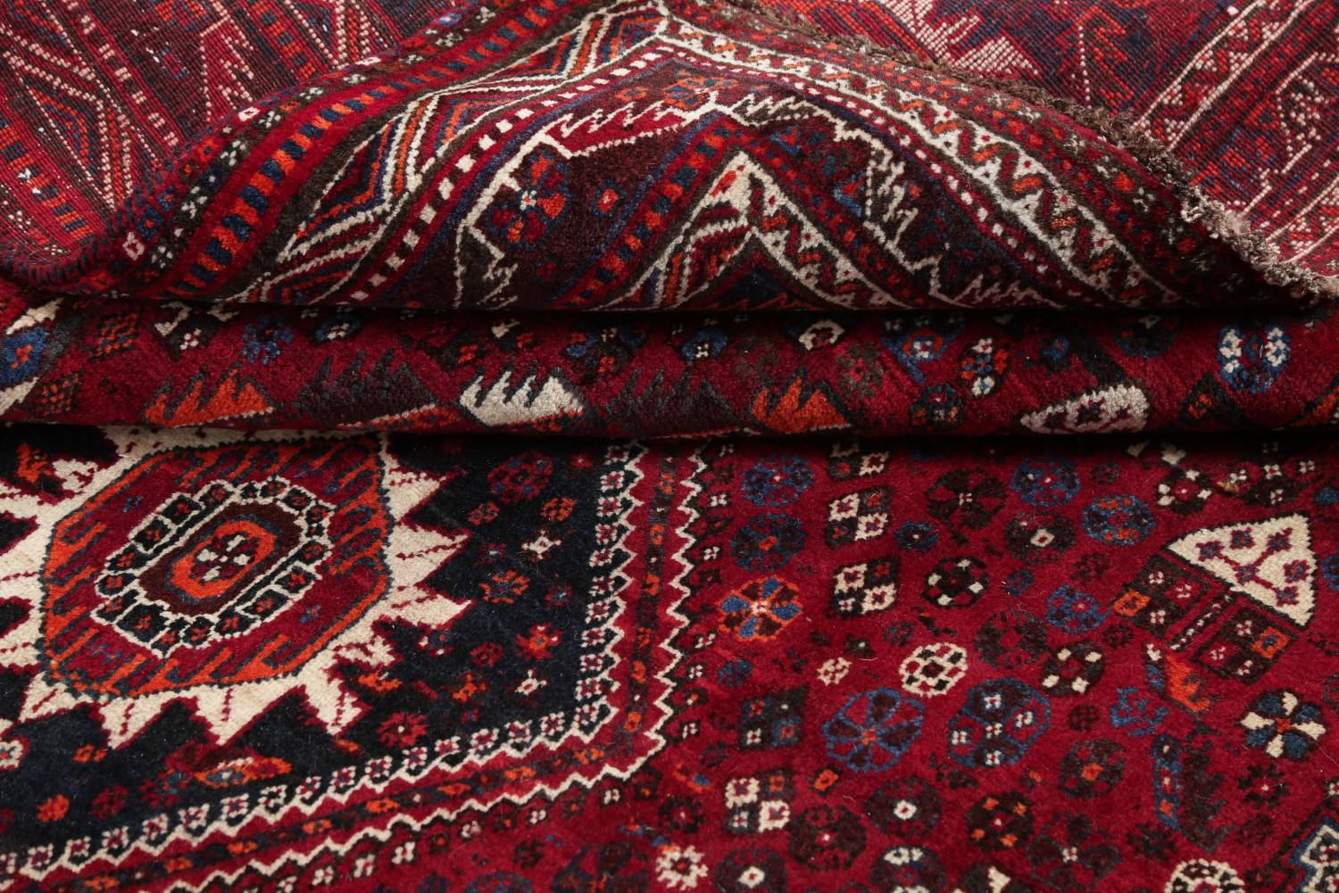 Antique Red Tribal Geometric Qashqai Persian Hand-Knotted 5x8 Wool Area Rug image 17