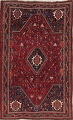 Antique Red Tribal Geometric Qashqai Persian Hand-Knotted 5x8 Wool Area Rug image 1