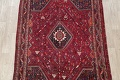 Antique Red Tribal Geometric Qashqai Persian Hand-Knotted 5x8 Wool Area Rug image 3