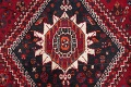 Antique Red Tribal Geometric Qashqai Persian Hand-Knotted 5x8 Wool Area Rug image 9