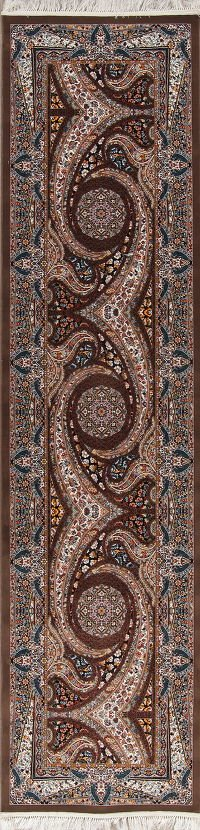 Geometric Oushak Turkish Oriental 3x13 Wool Acrylic Runner Rug
