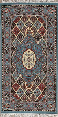 Geometric Oushak Turkish Oriental 3x6 Runner Rug