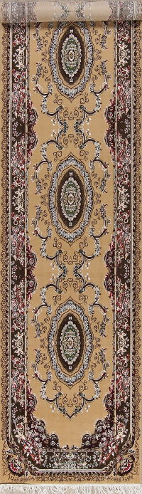 Transitional Oushak Turkish Oriental Runner Rug