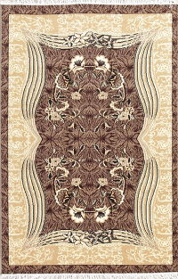 Brown Floral Modern Turkish Oriental 5x7 Area Rug
