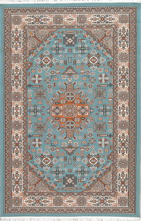 Floral Teal Blue Kilim Shiraz Turkish Oriental 5x7 Area Rug