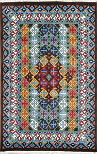 Geometric Modern Turkish Oriental 5x7 Area Rug