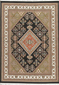 Black Geometric Kilim Shiraz Turkish Oriental 5x7 Area Rug