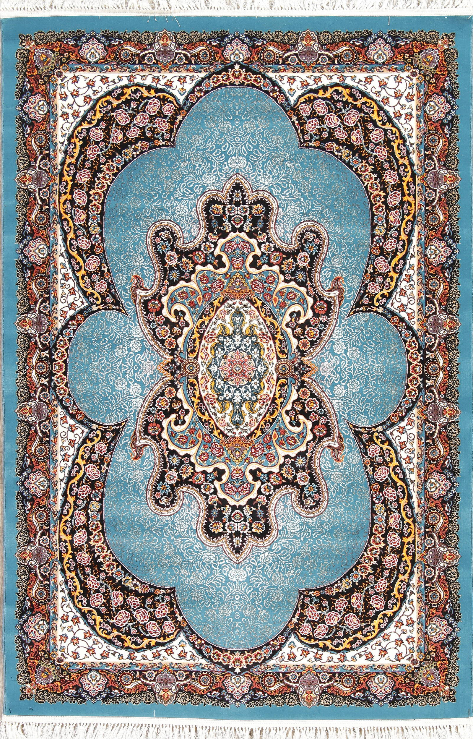 Floral Medallion Hereke Turkish Oriental 5x7 Area Rug