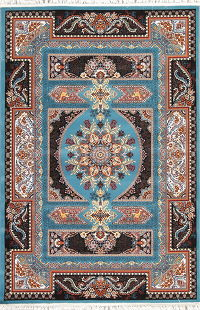 Animal Pictorial Floral Hereke Turkish Oriental 5x7 Area Rug