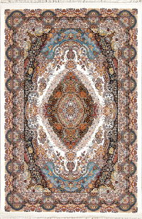 Ivory Floral Hereke Turkish Oriental 5x7 Area Rug