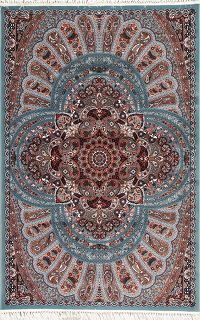 Light Blue Floral Hereke Turkish Oriental 5x7 Area Rug
