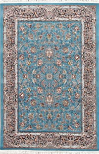 All-Over Floral Blue Hereke Turkish Oriental 5x7 Area Rug