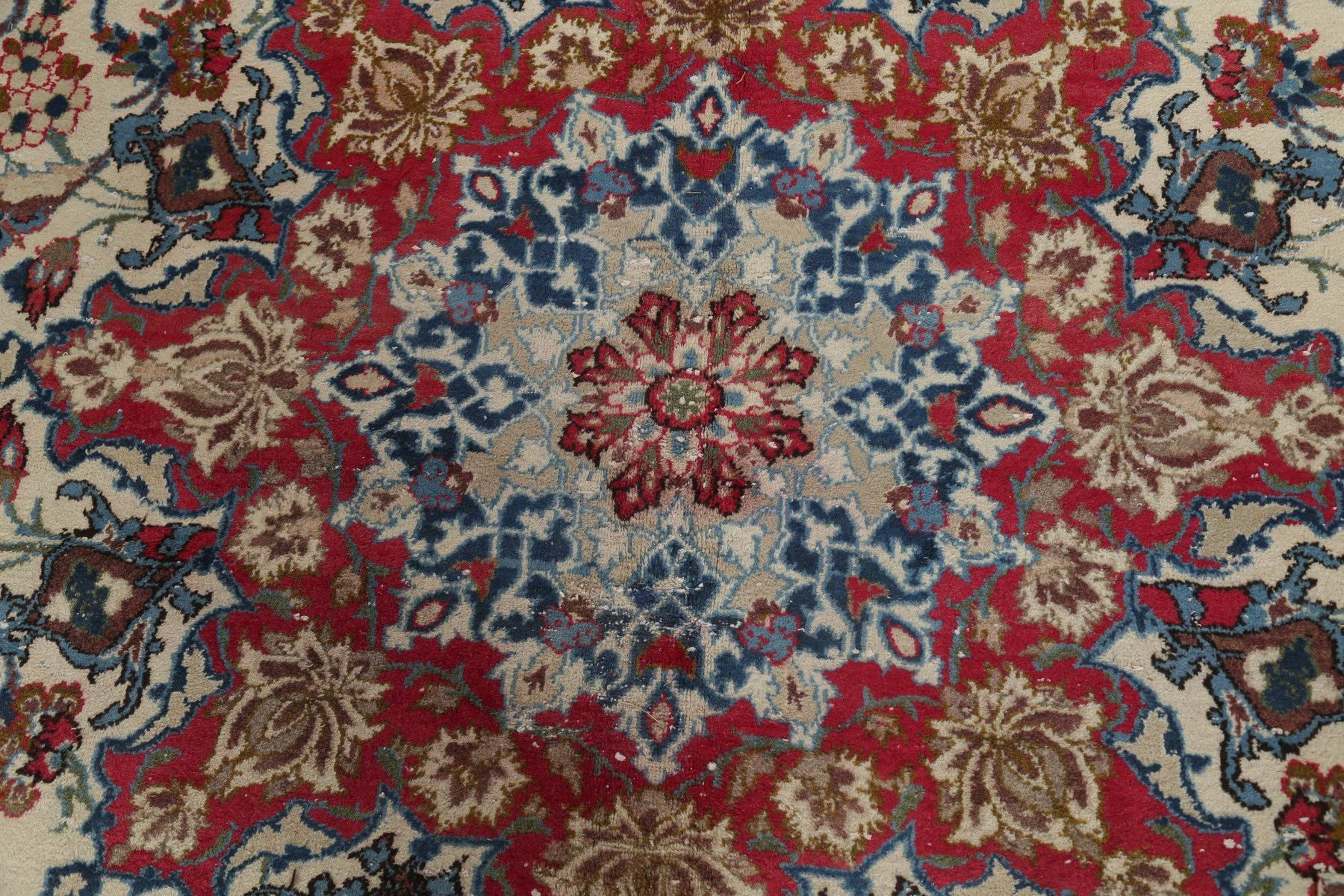 Traditional Floral Najafabad Persian Hand-Knotted 11x17 Wool Rug