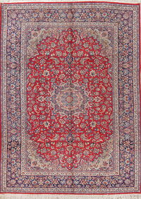 Traditional Floral Red Najafabad Persian Hand-Knotted 9x13 Wool Area Rug