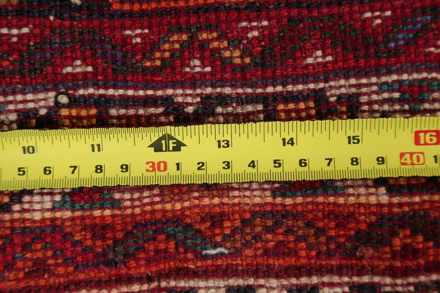 Antique Tribal Red Geometric Abadeh Persian Hand-Knotted 5x8 Wool Area Rug image 21