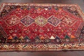 Antique Tribal Red Geometric Abadeh Persian Hand-Knotted 5x8 Wool Area Rug image 16
