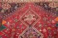 Antique Tribal Red Geometric Abadeh Persian Hand-Knotted 5x8 Wool Area Rug image 14