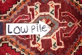 Antique Tribal Red Geometric Abadeh Persian Hand-Knotted 5x8 Wool Area Rug image 10