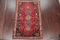 Antique Tribal Red Geometric Abadeh Persian Hand-Knotted 5x8 Wool Area Rug image 2