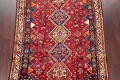 Antique Tribal Red Geometric Abadeh Persian Hand-Knotted 5x8 Wool Area Rug image 3