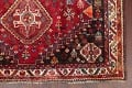 Antique Tribal Red Geometric Abadeh Persian Hand-Knotted 5x8 Wool Area Rug image 6