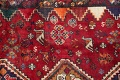 Antique Tribal Red Geometric Abadeh Persian Hand-Knotted 5x8 Wool Area Rug image 8