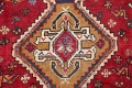 Antique Tribal Red Geometric Abadeh Persian Hand-Knotted 5x8 Wool Area Rug image 9