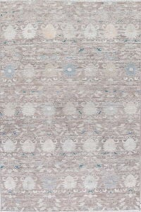 Transitional Silver Grey Oushak Turkish Oriental Hand-Knotted 7x10 Wool Area Rug