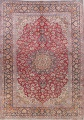 Floral Red Kashan Persian Area Rug 9x13 image 1