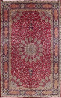 One-of-a-Kind Floral Medallion Tabriz Persian Hand-Knotted 10x16 Wool Rug