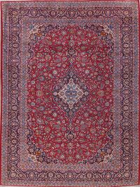 One-of-a-Kind Floral Medallion Kashan Persian Handmade 10x13 Wool Area Rug