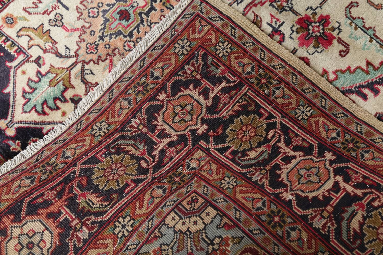 One-of-a-Kind Antique Heriz Serapi Persian Hand-Knotted 7x9 Wool Area Rug image 22