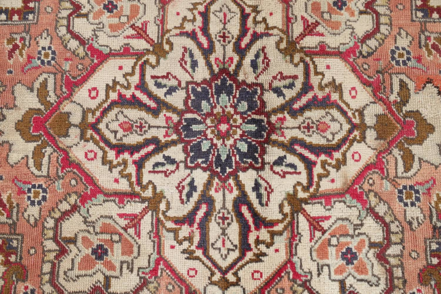One-of-a-Kind Antique Heriz Serapi Persian Hand-Knotted 7x9 Wool Area Rug image 8
