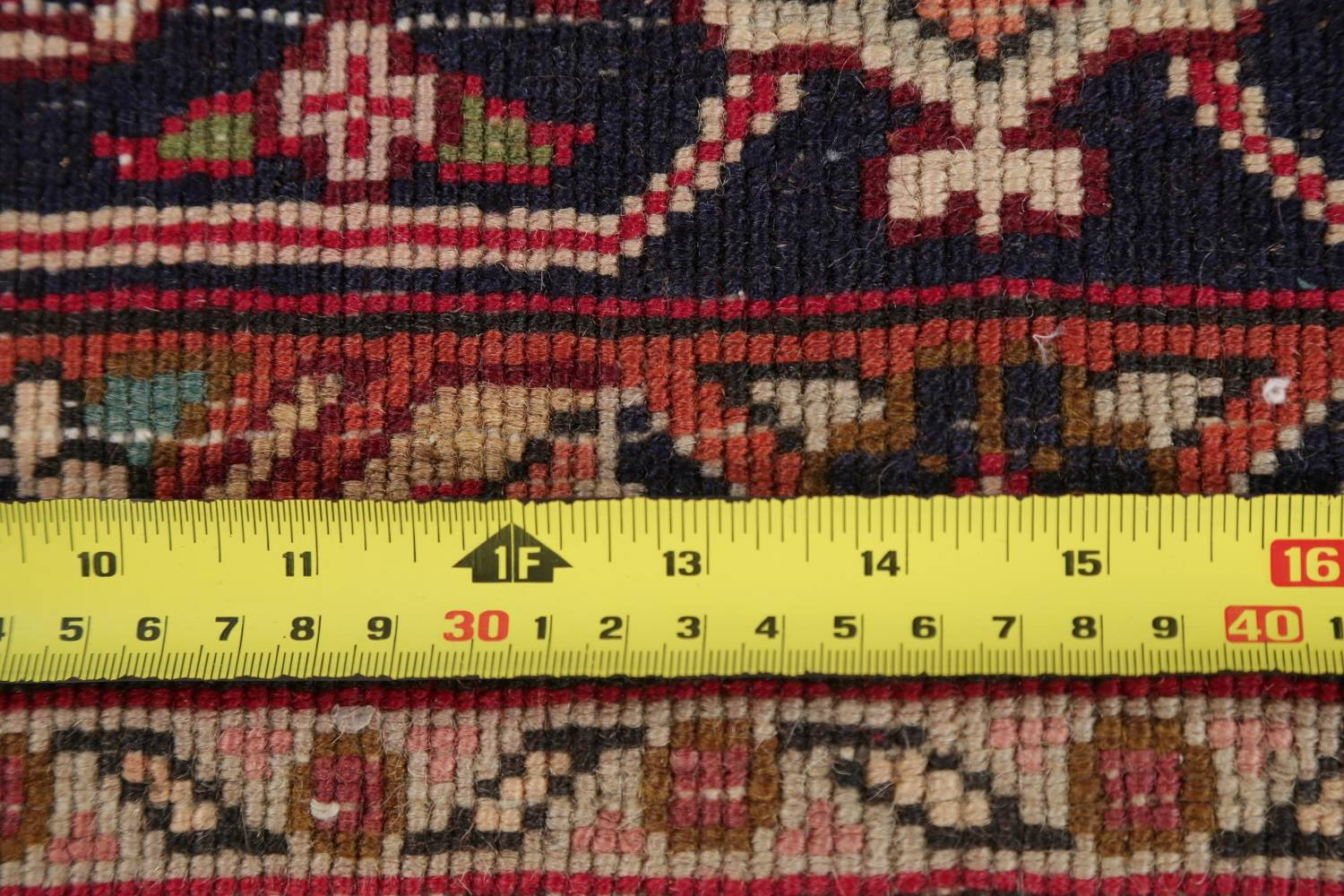 One-of-a-Kind Antique Heriz Serapi Persian Hand-Knotted 7x9 Wool Area Rug image 21