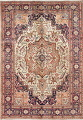 One-of-a-Kind Antique Heriz Serapi Persian Hand-Knotted 7x9 Wool Area Rug image 1