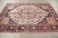 One-of-a-Kind Antique Heriz Serapi Persian Hand-Knotted 7x9 Wool Area Rug image 15